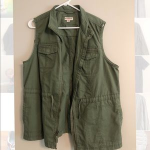 Women's Merona army green military vest